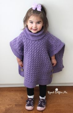 Yarnspirations Crochet Poncho For You and Me and Giveaway! - Repeat Crafter Me