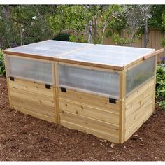 Outdoor Living Today Raised Cedar Garden Bed with Greenhouse Kit - 6 x 3 ft.