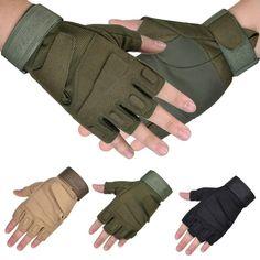 1 Paar Military Halbfingerhandschuhe Fingerlose Tactical Airsoft Jagd Reiten Radfahren Handschuhe Boxhandschuhe Sommer Handschuhe für Männer Frauen