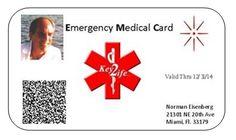Free Printable Medical ID Cards  MedIDs.com Medical ID Quick Card