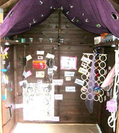KU Crewe have created a sensory shed for children to access outdoors