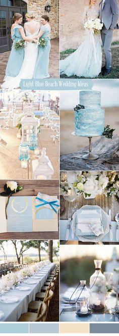 romantic light blue wedding color inspiration for 2017 beach weddings