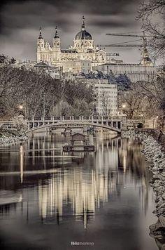 Cathedral of Santa Maria la Real de la Almudena in Madrid, Spain. Shared by Olga Papatriantafyllou