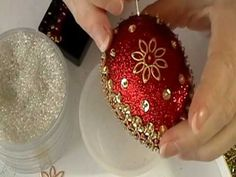 Inspired by the designs of eastern European Easter Eggs.  For directions and a list of materials used to make this egg please visit http://ornamentdesigns.com/2010/03/23/classic-red-gold-easter-egg/  Please visit my shop http://www.etsy.com/shop/OrnamentDesigns  Music by: Frank Harper J.S.Bach - Prelude in D minor BWV 999