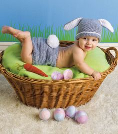 FREE Crochet Pattern | Baby Easter Bunny Outfit | Supplies available at Joann.com or your local Jo-Ann Fabric and Craft Store