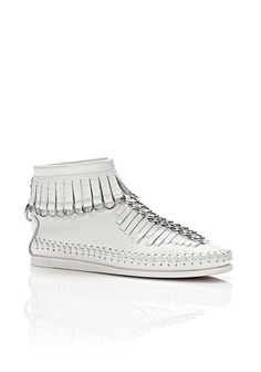 the best attitude bc7a6 4d1ae ALEXANDER WANG MONTANA FRINGE BOOT - WHITE. alexanderwang shoes  Fringe  Boots,