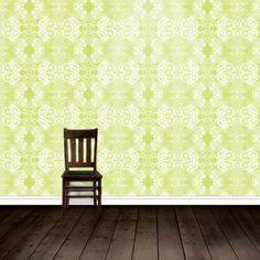 Wallpaper Metallic Acid Green by HUXHUX Design