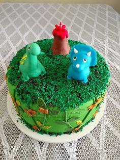 bolo-decorado-dinossauros dinosaur cake