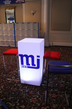 LED Hightop Tables - Bar Mitzvah Decor by The Event of a Lifetime - mazelmoments.com