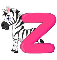 Alphabet z with zebra cartoon vector Angry Cartoon, Cartoon Whale, Penguin Cartoon, Horse Cartoon, Cartoon Elephant, Happy Cartoon, Cow Vector, Fish Vector, Vector Art