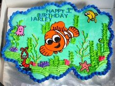 nemo birthday party ideas | ... Nemo Birthday Cake :: Inspirations for the Centerpiece of Your Party
