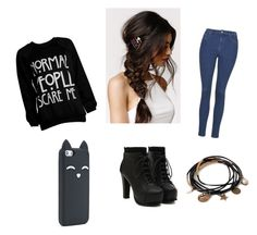 """""""Just because"""" by mizbellared ❤ liked on Polyvore featuring Topshop, With Love From CA and Forever 21"""