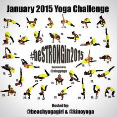 January Yoga Challenge - Be Strong In 2015 and Resolutions