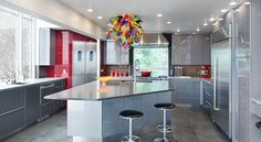 Noche Grigio laminated glass cabinets by nFusionGlass