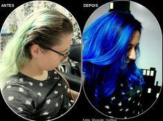 Katia Miyazaki Coiffeur - Salão de Beleza em Floripa: antes e depois - cabelo azul - blue hair - indigo ...