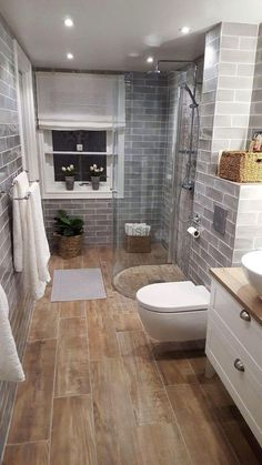 Modern Farmhouse, Rustic Modern, Classic, light and airy master bathroom design tips. Bathroom makeover ideas and master bathroom renovation tips. Small Bathroom Renovations, Bathroom Remodeling, Remodeling Ideas, Bathroom Makeovers, House Renovations, Small Bathroom Colors, Bathroom Small, Simple Bathroom, Bathroom Showers