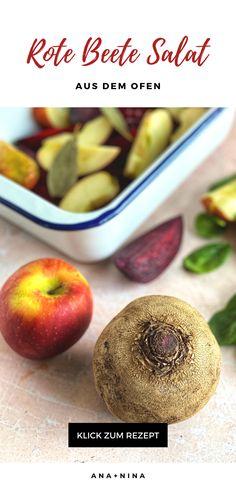 Salate sind ja eigentlich eher ein Gericht für den Sommer, aber dieser warme Apfel-Randen-Salat ist wahrlich ein Herbst-Rezept zum Verlieben! Schnell zubereitet und vielseitig einsetzbar ist ein Apfel Salat mit Randen das perfekte Mitbringsel für ein Abendessen mit Freunden, Familie - oder ein romantisches Dinner zu Zweit.  Apfel Randen Salat | Randen Salat | Apfel Salat mit Randen | Randen Rezepte | Herbst-Rezept | Rezepte Abendessen