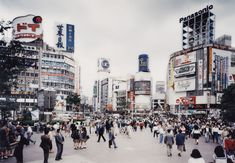 Shibuya Crossing, Tokyo    photo by Thomas Struth, 1991 -- I miss this place sometimes.