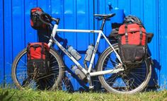 bicycle panniers on a touring bike