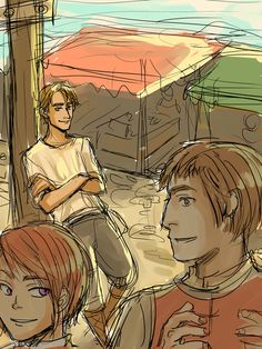 TP WIP: watching by Minuiko.deviantart.com on @deviantART  At their first meeting. Goarge and Alanna.