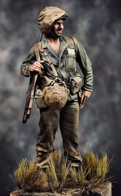 Us Marines Uniform, American War, Okinawa, Usmc, Ww2, Miniatures, Painting, Scale, Models