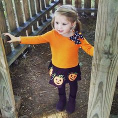 At the pumpkin patch with my adorable niece.