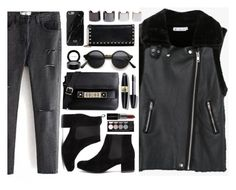 """All Black"" by genuine-people ❤ liked on Polyvore featuring Proenza Schouler, Max Factor, MAC Cosmetics, Witchery, Smashbox, Valentino, Luv Aj, women's clothing, women's fashion and women"