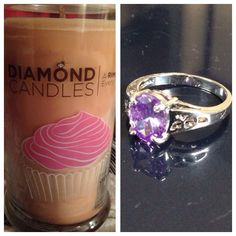 $10 diamond candle ring from cupcake candle