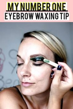 If you want to DIY wax your brows at home, listen up! I am sharing with you my n. If you want to DIY wax your brows at home, listen up! I am sharing with you my number one eyebrow waxing tip for beautiful brows that I use for clients and on myself. Tweezing Eyebrows, Threading Eyebrows, Diy Eyebrow Waxing, Waxing Eyebrows, Eyebrow Tips, Eyebrow Pencil, Wax Eyebrows At Home, Men's Eyebrow Shapes, Wax
