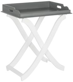 Barkley Tray Table Grey / White