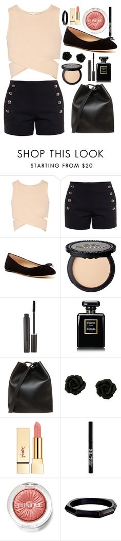 """""""Untitled #170"""" by heya-87 ❤ liked on Polyvore featuring Jonathan Simkhai, Chloé, Via Spiga, Laura Mercier, Chanel, 3.1 Phillip Lim, Urban Decay, Clinique and Monique Péan"""