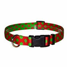 Yellow Dog Design Standard Collar, Large, Christmas Polka - http://www.thepuppy.org/yellow-dog-design-standard-collar-large-christmas-polka/