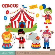 Circus Digital Clipart Circus Clipart Carnival by LittleMoss