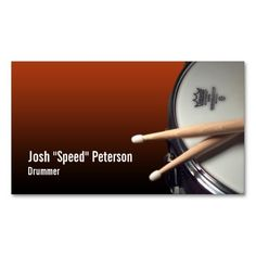 305 best musician business cards images on pinterest business snare drum red drummer musician business card colourmoves