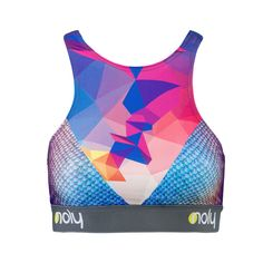 NOLY High Neck Sports Bra Geo-Snake - Women's fitness and yoga clothing. Great for active gym workouts or aerobic sessions. Romance sport and fashion