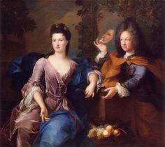 Portrait of Mademoiselle Elisabeth Charlotte & brother Philippe d'Orleans by Pierre Gobert, 1690 French History, Modern History, Art History, 17th Century Fashion, 18th Century, Marie Antoinette, Lion Noir, Mardi Gras, Ludwig Xiv