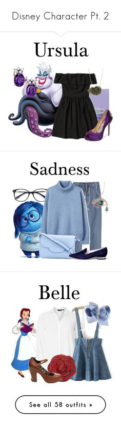 """Disney Character Pt. 2"" by kaileewhaley13 ❤ liked on Polyvore featuring Coccinelle, Effy Jewelry, Abercrombie & Fitch, Disney, Badgley Mischka, EyeBuyDirect.com, WithChic, Kate Spade, Nicholas Kirkwood and polyvoreeditorial"