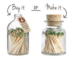 BUY IT OR MAKE IT – 5 MINUTE DIY MATCHSTICK JAR