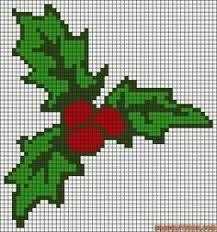 Image result for mistletoe perler bead