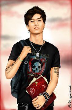 tattooed got7 part 5/7 - Choi Youngjae (cr. drawyourmark.tumb...)