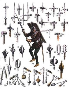 Cold Steel Arms: Axe heads, maces, morningstars