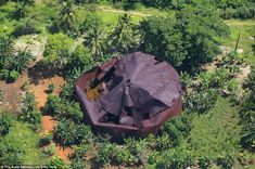 Aerial photos show remnants of WWII in remote Pacific Ocean tropical islands Islands In The Pacific, Pacific Ocean, Island Pictures, Aerial Images, Rock Island, Growing Tree, Lush Green, Aerial View, Wwii