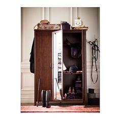"BRUSALI Wardrobe with 3 doors, brown - 51 5/8x74 3/4 "" - IKEA"