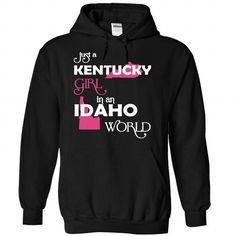 (Kentucky001) Just A Kentucky Girl In A Idaho World - #floral tee #couple sweatshirt. WANT => https://www.sunfrog.com/Valentines/-28Kentucky001-29-Just-A-Kentucky-Girl-In-A-Idaho-World-Black-Hoodie.html?68278
