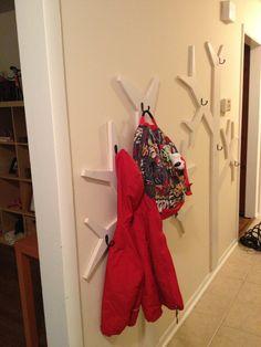 family coat rack | Wall Mount Coat Rack Tree -- Style Meets Function | Do It Yourself ...