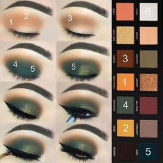 Subculture palette #greeneyeshadows #dramaticeyemakeup #makeupideasdramatic