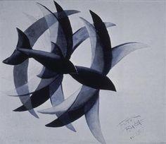 Balla, Giacomo; Flights of Swifts; 1913; Tempera on paper