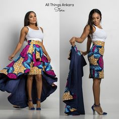 Ivie High-Low Skirt Set by N'omose Couture. The Ivie High-Low Skirt is a super flattering detachable high low skir