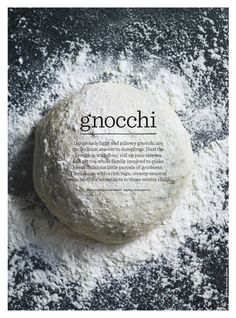 This voice of this gnocchi ad is very content and fulfilled. Gnocchi is not only a delicious food but also a means of bonding with your family. Dumplings are still better than gnocchi, though. Just sayin'. Food Photography Styling, Food Styling, Food Design, Food Presentation, Food For Thought, Food Inspiration, Italian Recipes, Love Food, Snacks