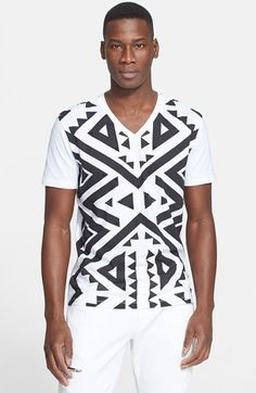 Versace Collection Studded Geo Print T-Shirt